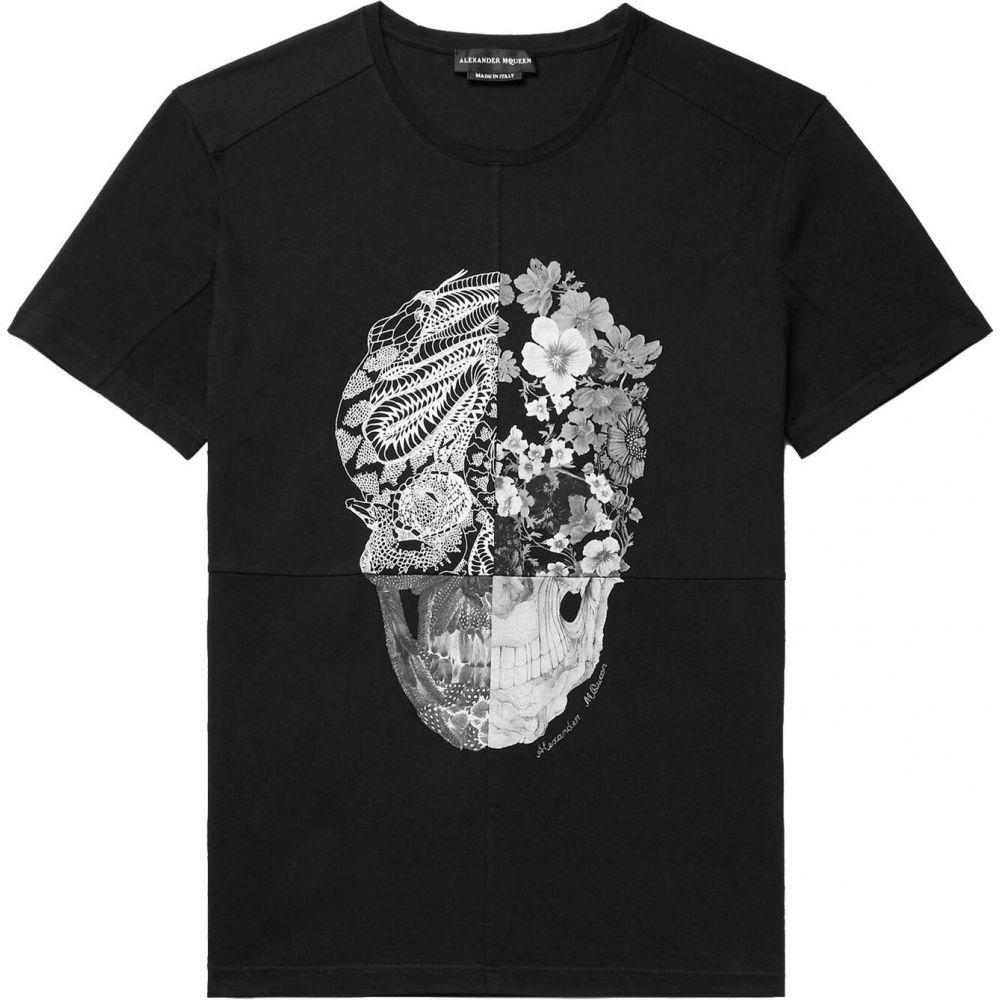 アレキサンダー マックイーン ALEXANDER MCQUEEN メンズ Tシャツ トップス【t-shirt】Black