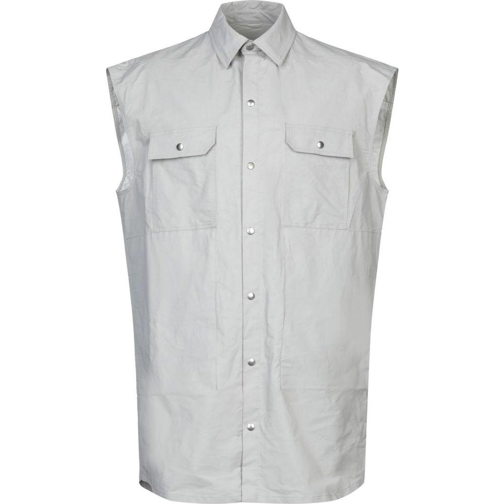 リック オウエンス RICK OWENS メンズ シャツ デニム トップス【denim shirt】Light grey