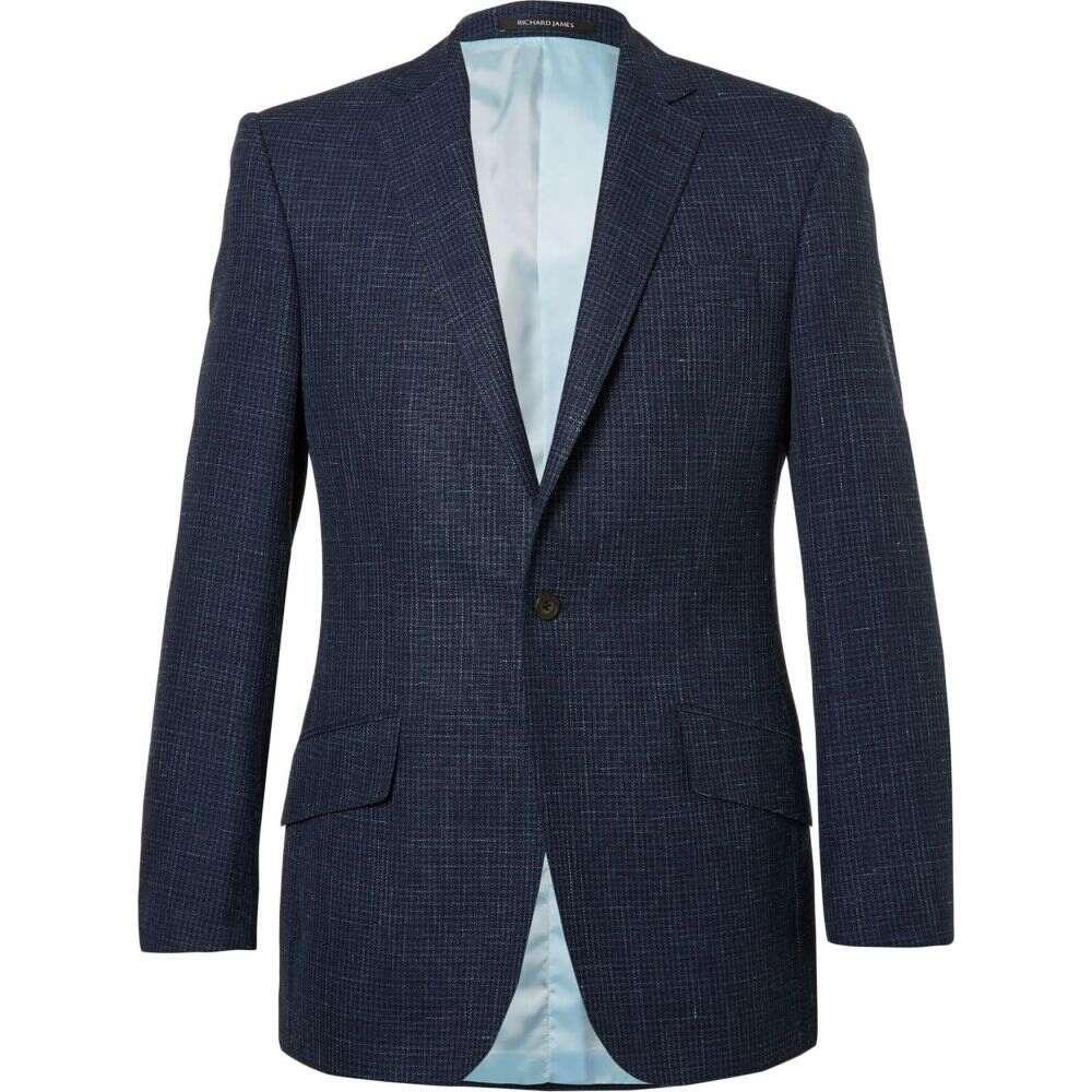 リチャード ジェームス RICHARD JAMES メンズ スーツ・ジャケット アウター【blazer】Dark blue