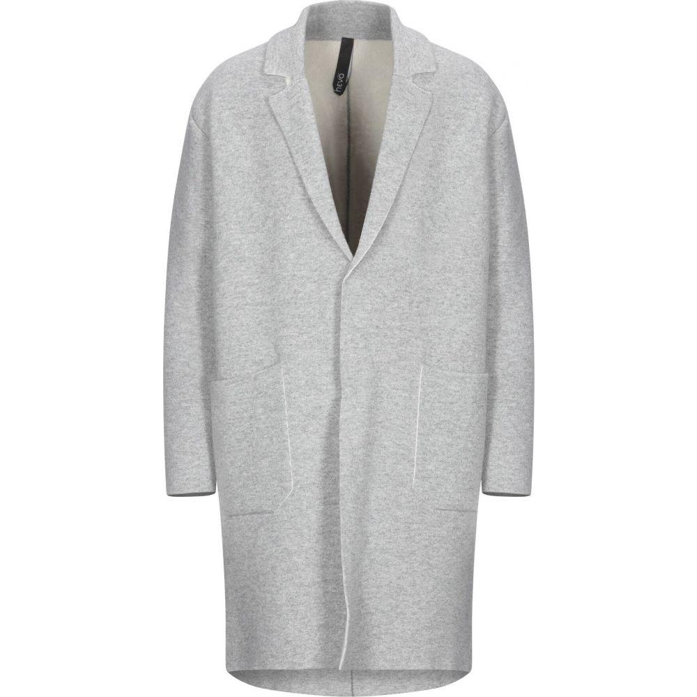 イーヴォ HEVO メンズ コート アウター【full-length jacket】Light grey