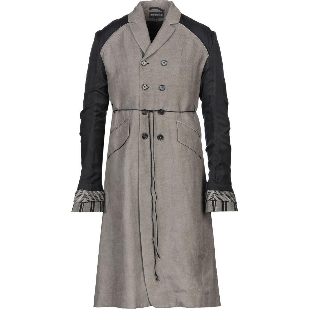 アンドゥムルメステール ANN DEMEULEMEESTER メンズ コート アウター【full-length jacket】Dove grey