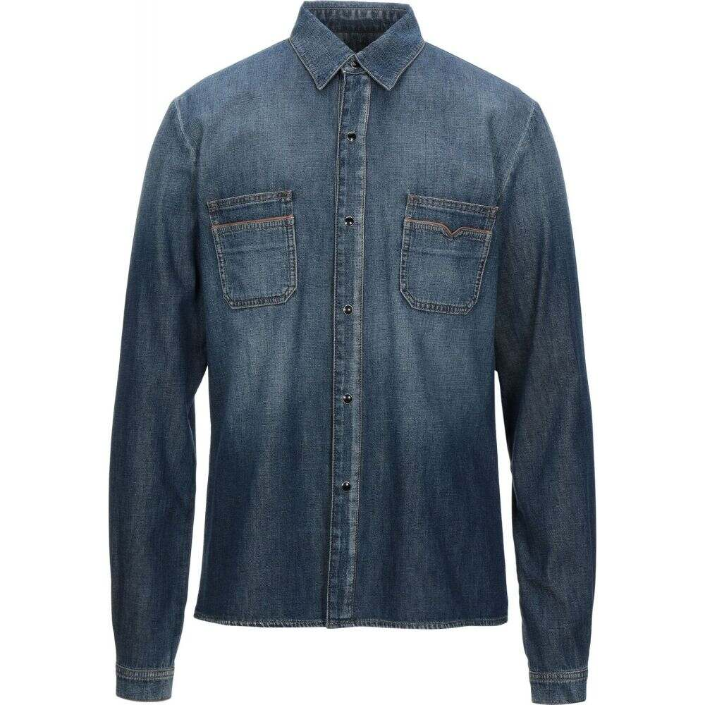 イヴ サンローラン SAINT LAURENT メンズ シャツ デニム トップス【denim shirt】Blue