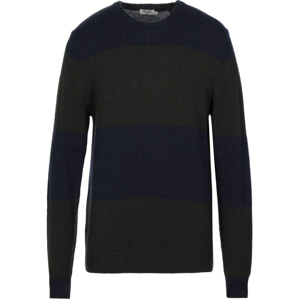 インピュア メンズ トップス ニット セーター サイズ交換無料 blue 本店 受賞店 IMPURE sweater Dark