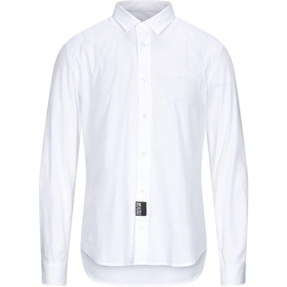 ヴェルサーチ VERSACE JEANS COUTURE メンズ シャツ トップス【solid color shirt】White