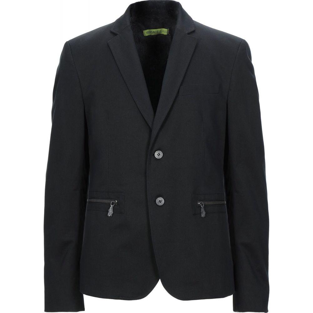 ヴェルサーチ VERSACE JEANS メンズ スーツ・ジャケット アウター【blazer】Black