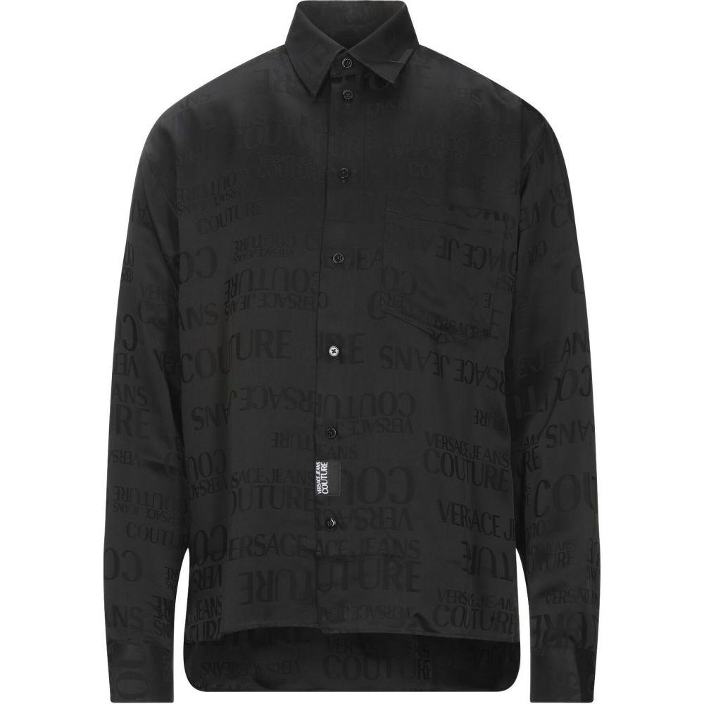 ヴェルサーチ VERSACE JEANS COUTURE メンズ シャツ トップス【solid color shirt】Black