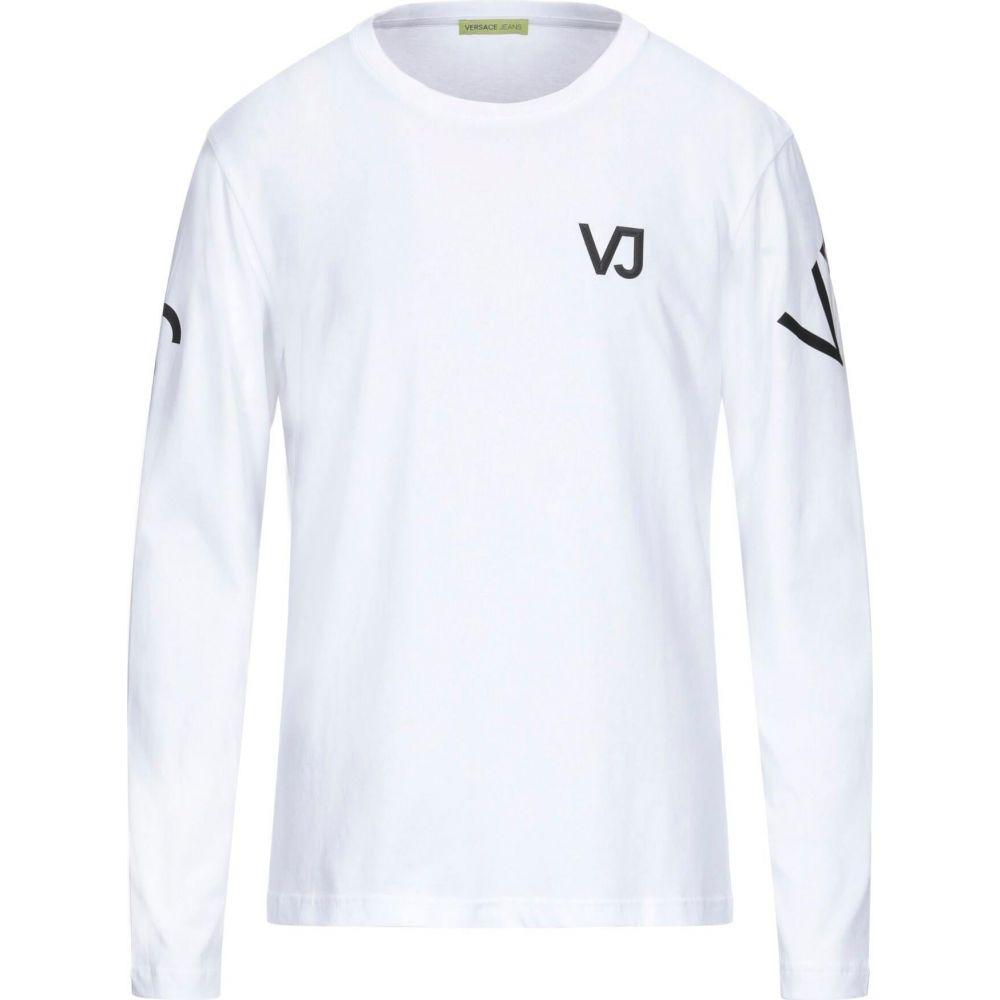 ヴェルサーチ VERSACE メンズ Tシャツ トップス【t-shirt】White