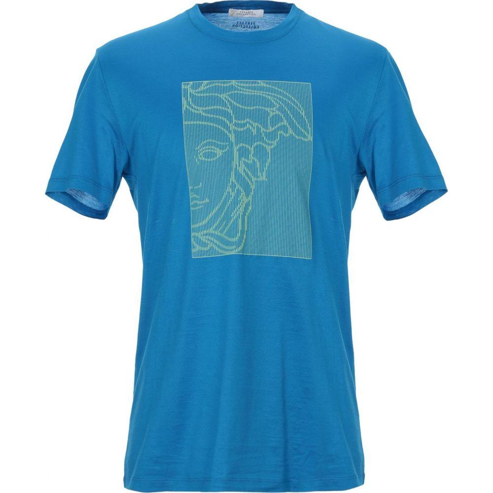 ヴェルサーチ VERSACE COLLECTION メンズ Tシャツ トップス【t-shirt】Pastel blue