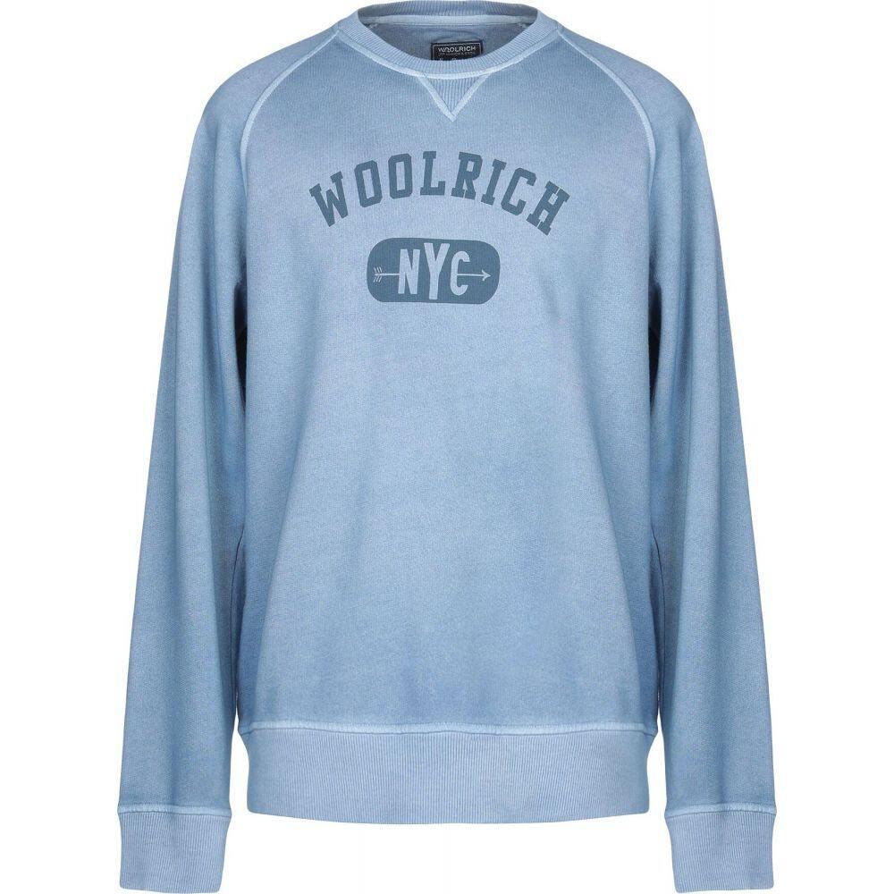 ウールリッチ WOOLRICH メンズ スウェット・トレーナー トップス【sweatshirt】Sky blue