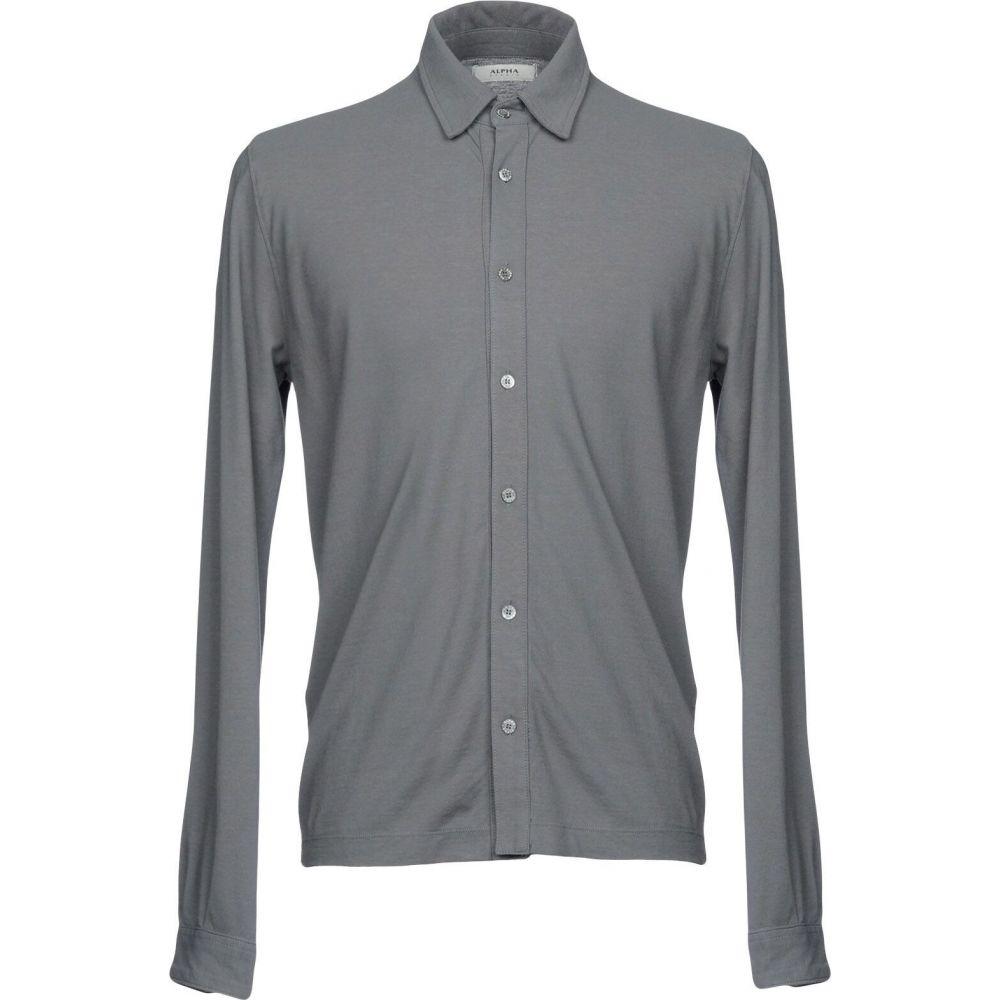 アルファス テューディオ ALPHA STUDIO メンズ シャツ トップス【solid color shirt】Lead
