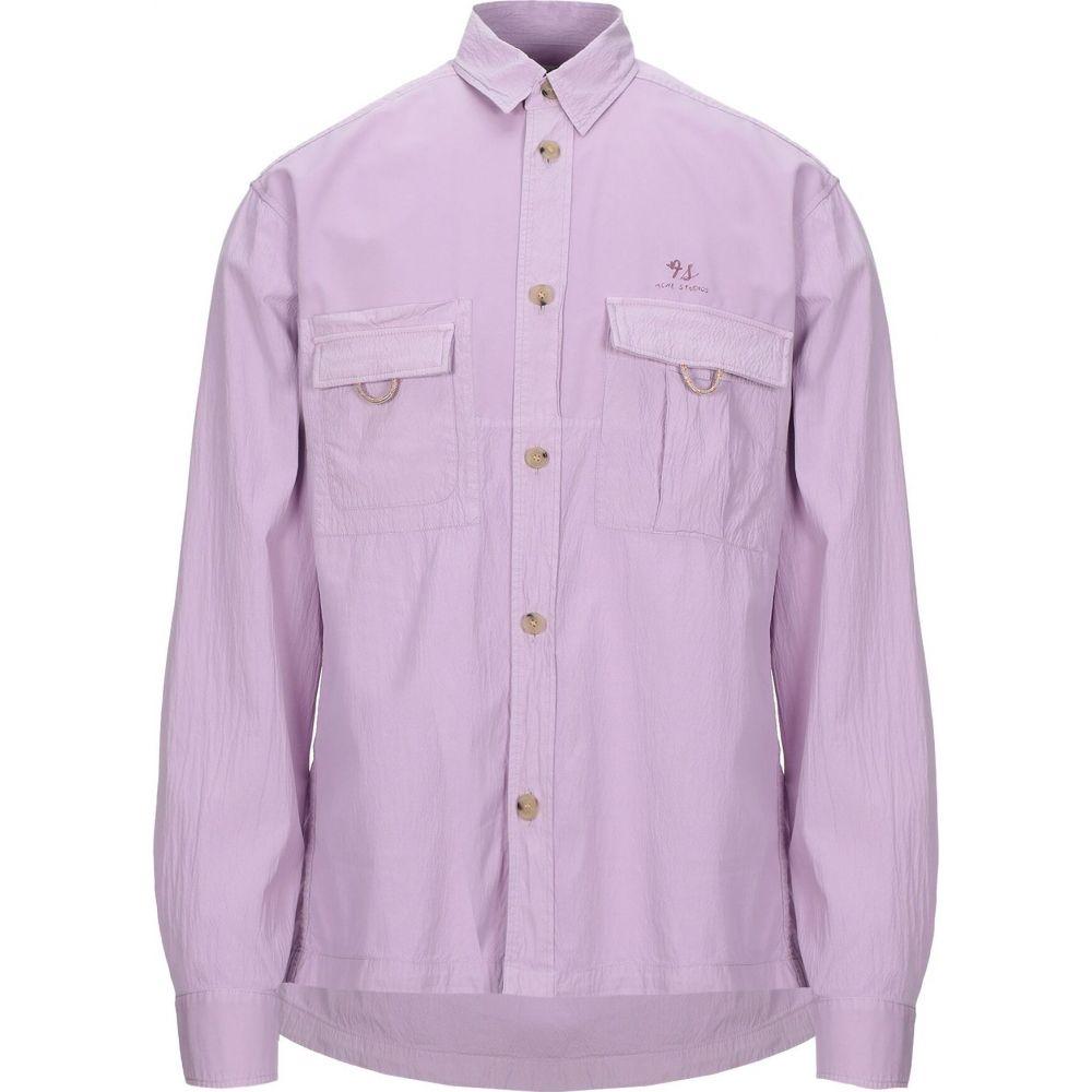 アクネ ストゥディオズ ACNE STUDIOS メンズ シャツ トップス【solid color shirt】Light purple