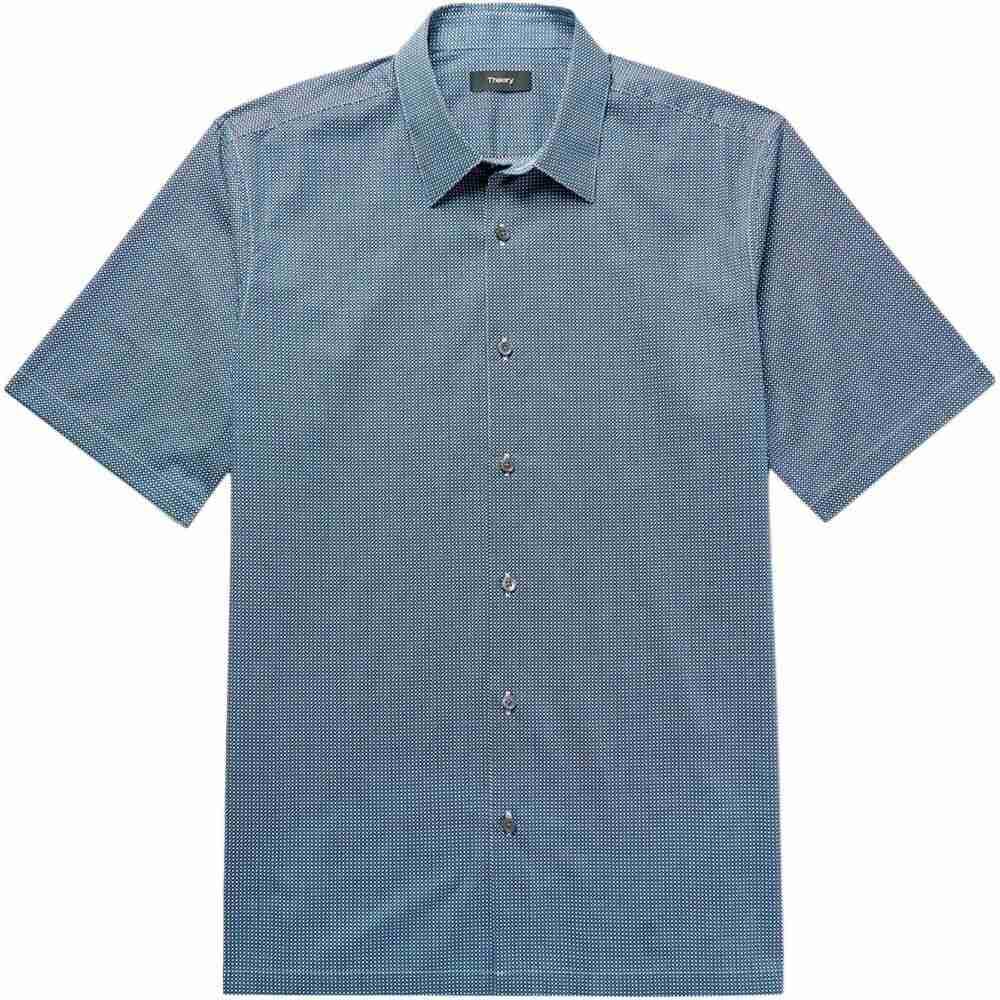 セオリー THEORY メンズ シャツ トップス【patterned shirt】Blue