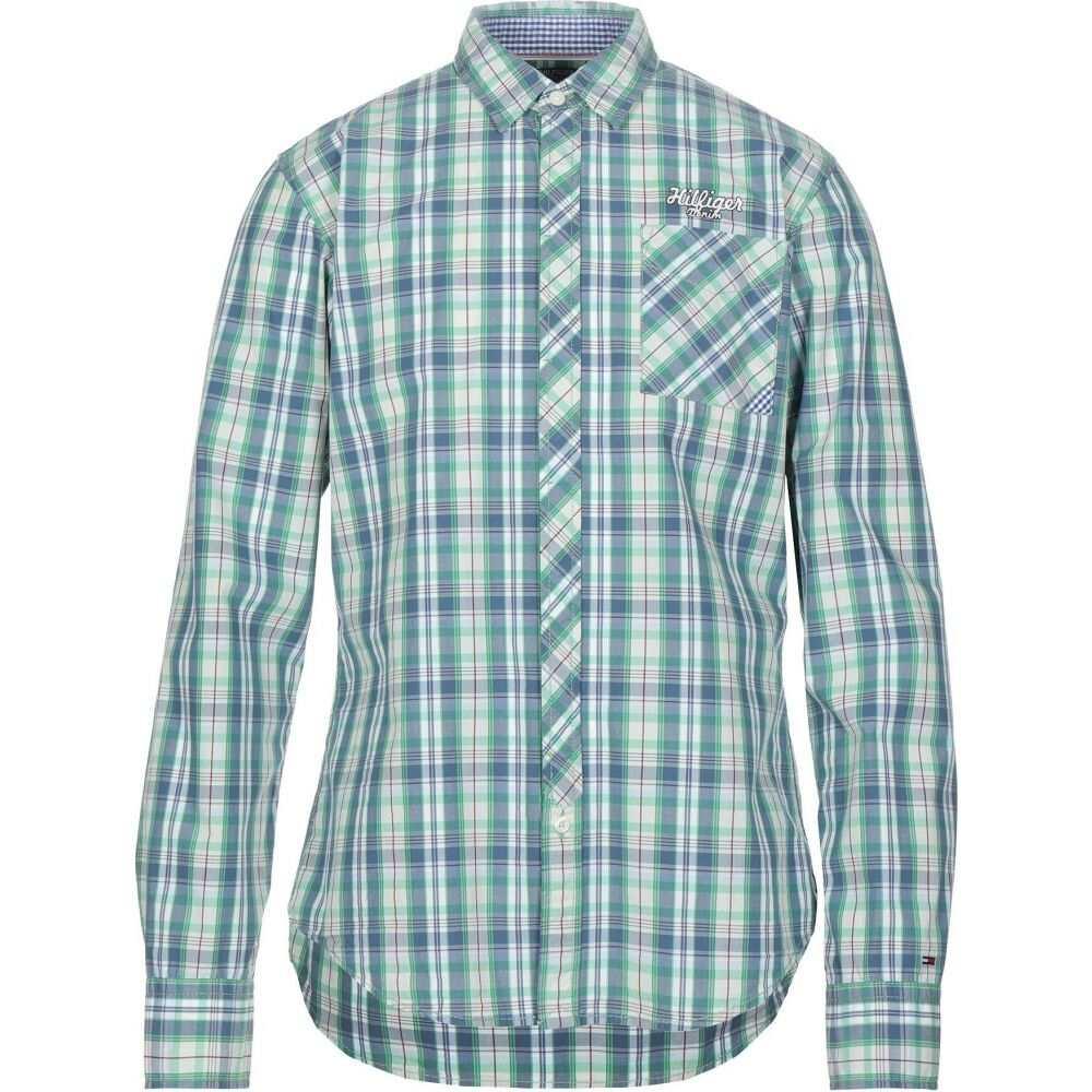 トミー ジーンズ TOMMY JEANS メンズ シャツ トップス【striped shirt】Green