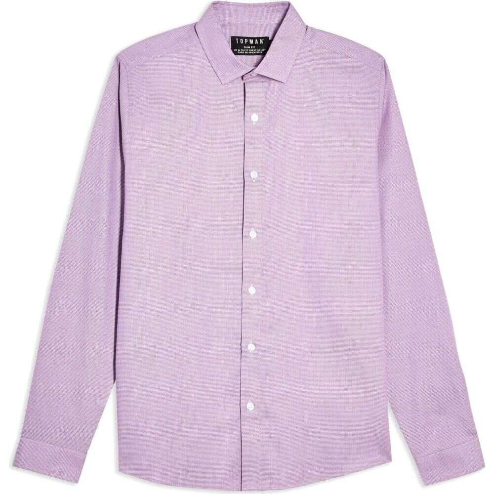 トップマン TOPMAN メンズ シャツ トップス【long sleeves pink texture solid color shirt】Mauve