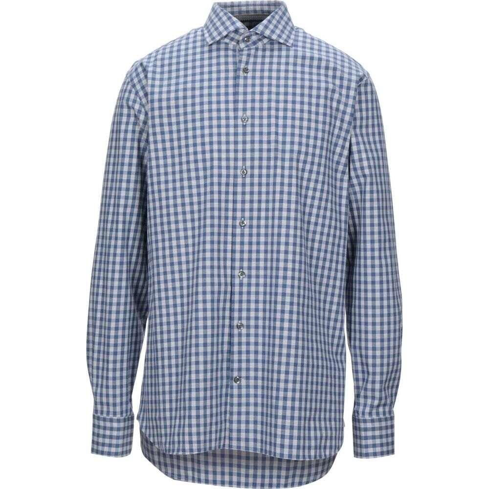 バンラック VAN LAACK メンズ シャツ トップス【checked shirt】Blue