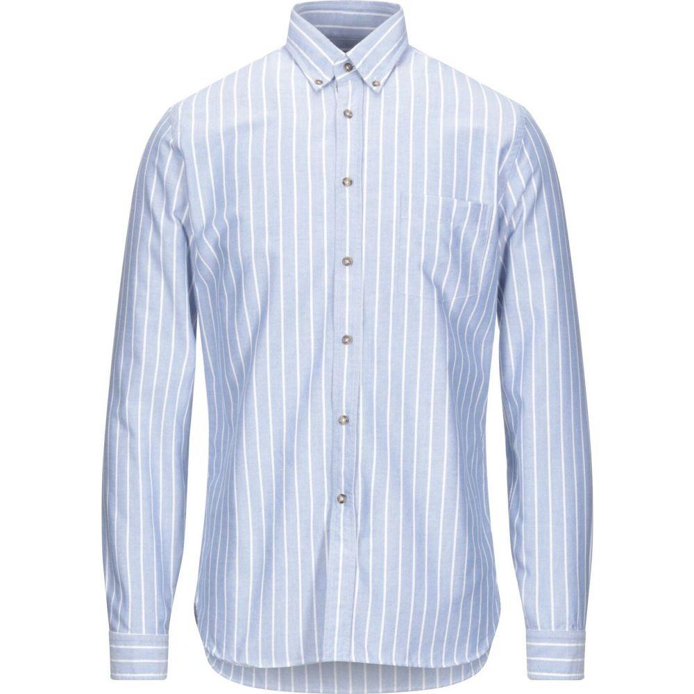 ザカス XACUS メンズ シャツ トップス【striped shirt】Sky blue