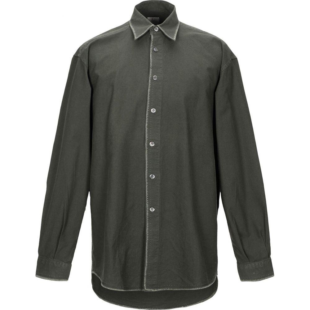 エイジ AGE メンズ シャツ トップス【solid color shirt】Military green