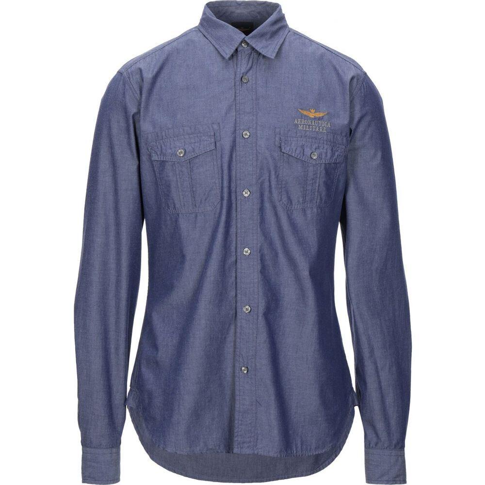 アエロナウティカ ミリターレ AERONAUTICA MILITARE メンズ シャツ トップス【solid color shirt】Blue