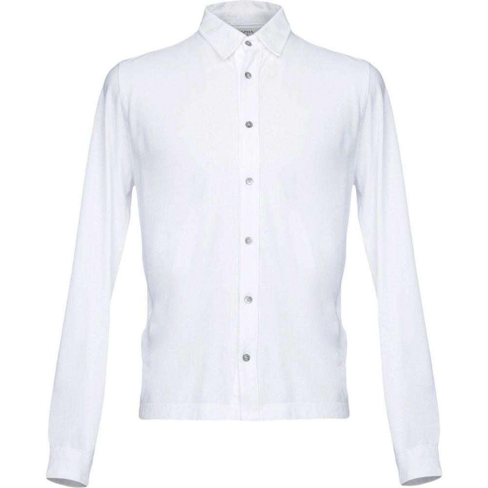 アルファス テューディオ ALPHA STUDIO メンズ シャツ トップス【solid color shirt】White