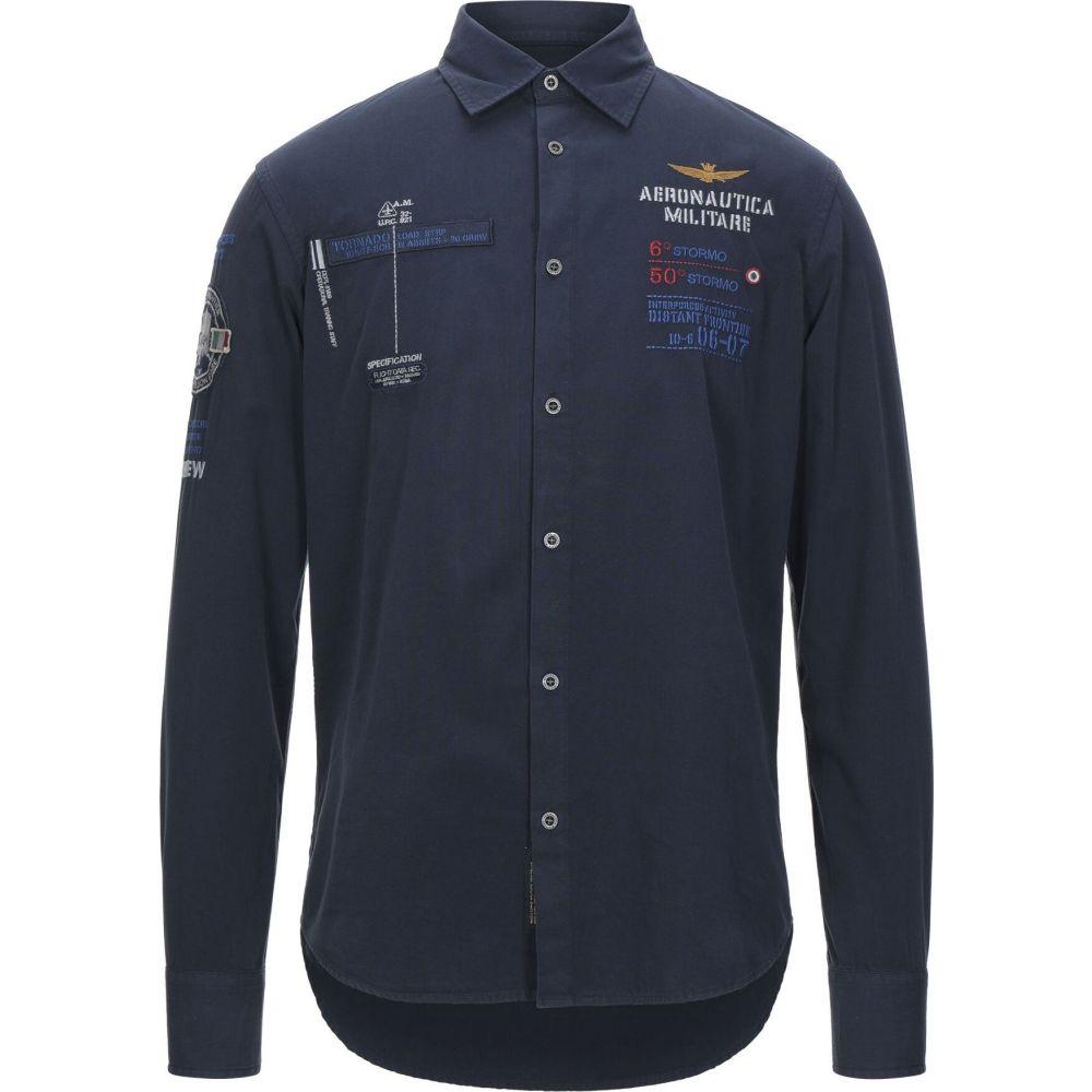 アエロナウティカ ミリターレ AERONAUTICA MILITARE メンズ シャツ トップス【solid color shirt】Dark blue