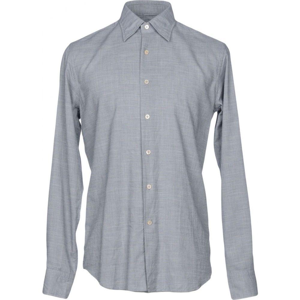 アレッサンドロ ゲラルディ ALESSANDRO GHERARDI メンズ シャツ トップス【solid color shirt】Grey