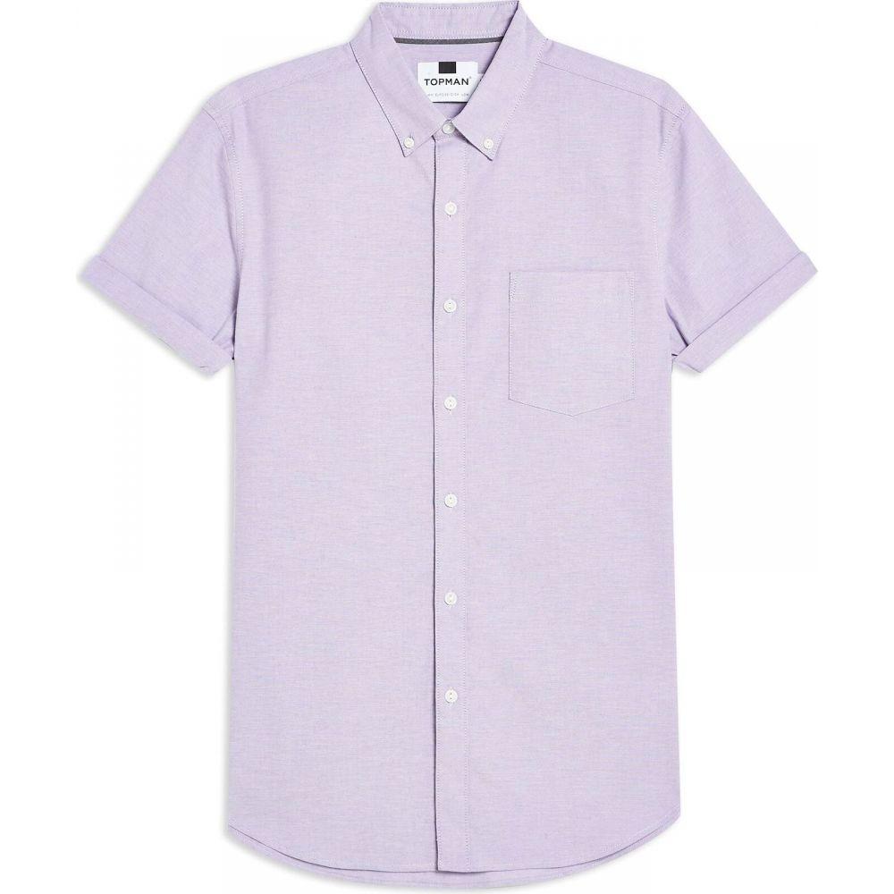 トップマン TOPMAN メンズ シャツ トップス【lilac stretch skinny oxford shirt solid color shirt】Lilac