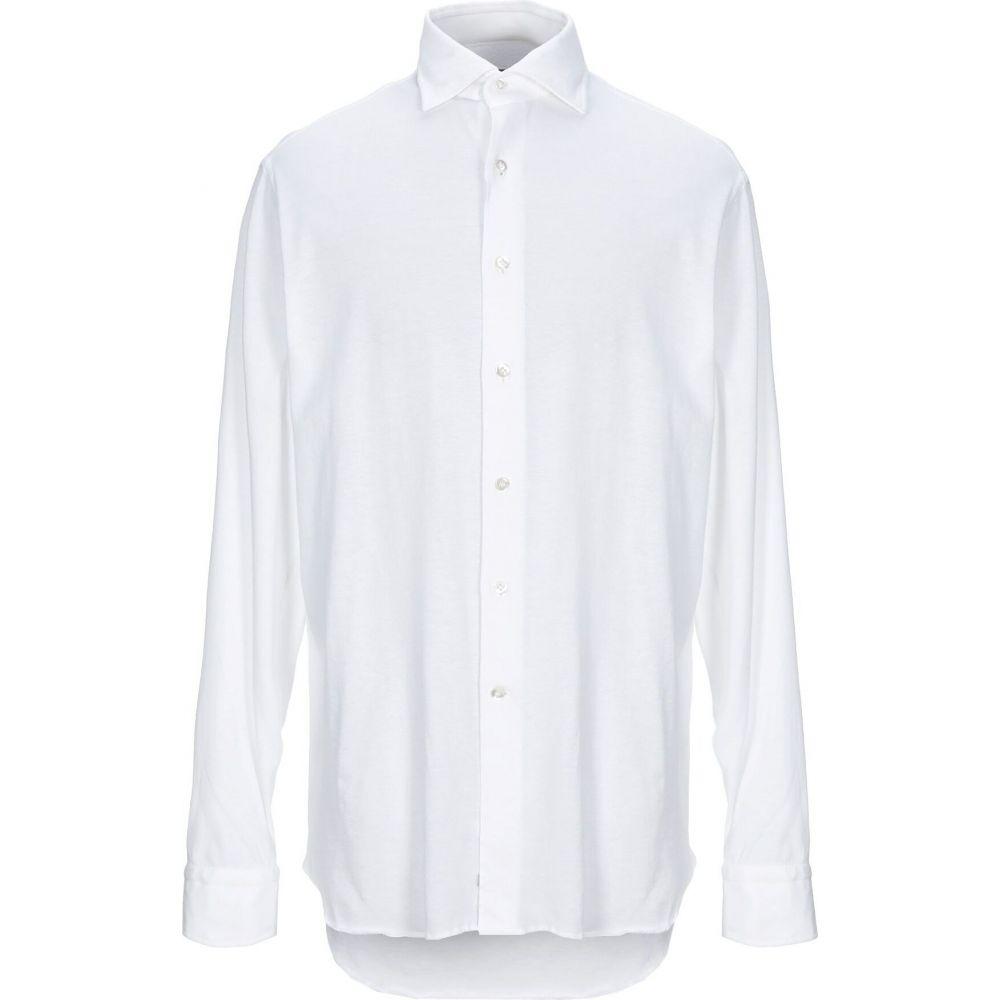 アレッサンドロ ゲラルディ ALESSANDRO GHERARDI メンズ シャツ トップス【solid color shirt】White