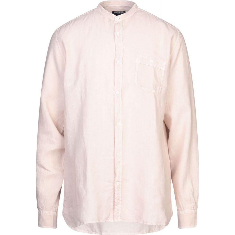ウールリッチ WOOLRICH メンズ シャツ トップス【linen shirt】Light pink