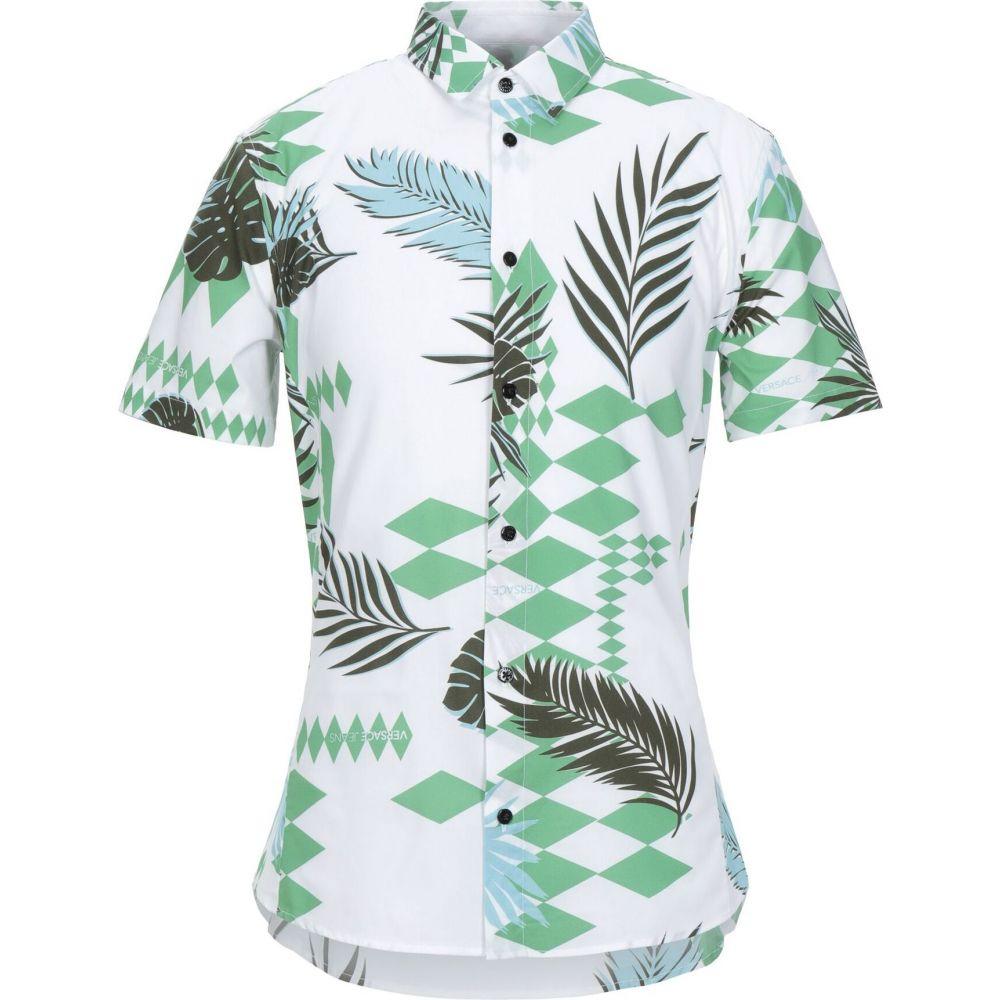 ヴェルサーチ VERSACE JEANS メンズ シャツ トップス【patterned shirt】White
