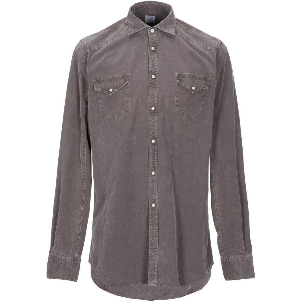 アレッサンドロ ゲラルディ ALESSANDRO GHERARDI メンズ シャツ トップス【solid color shirt】Khaki