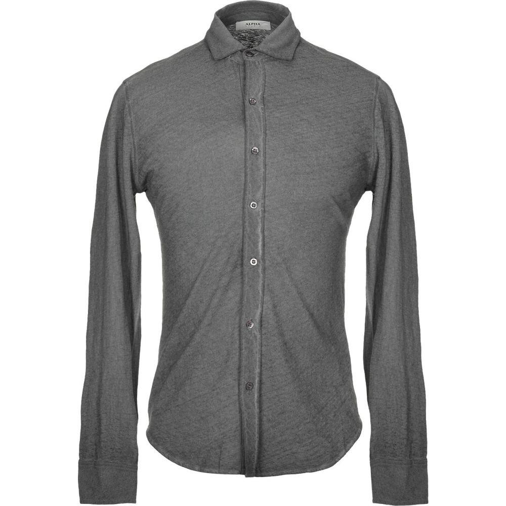 アルファス テューディオ ALPHA STUDIO メンズ シャツ トップス【solid color shirt】Grey