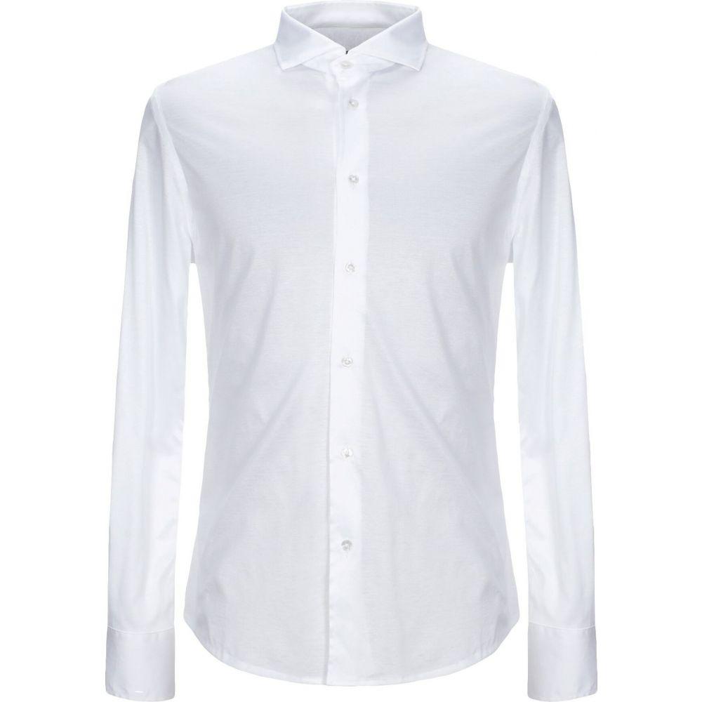 アレッサンドロ デラクア ALESSANDRO DELL'ACQUA メンズ シャツ トップス【solid color shirt】White