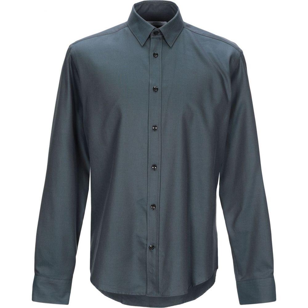 ヴェルサーチ VERSACE COLLECTION メンズ シャツ トップス【patterned shirt】Dark blue
