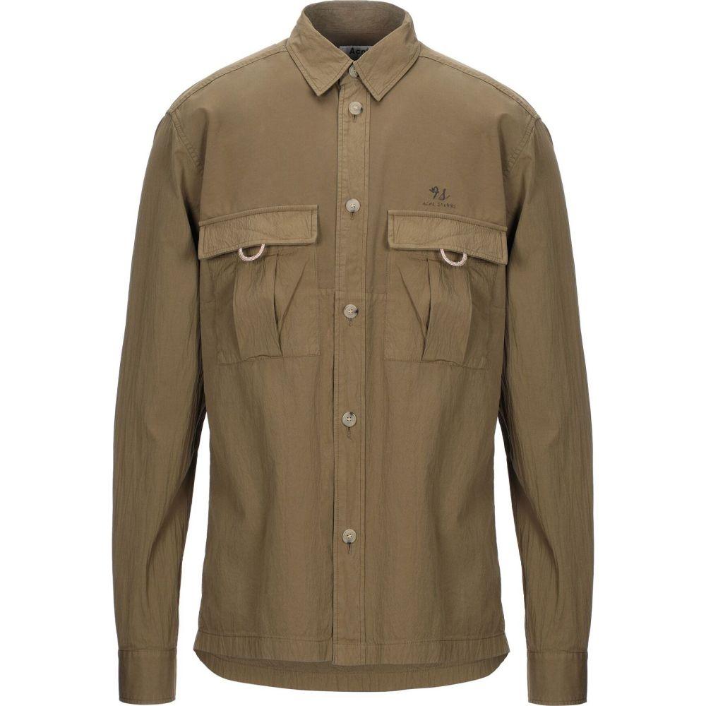 アクネ ストゥディオズ ACNE STUDIOS メンズ シャツ トップス【solid color shirt】Khaki