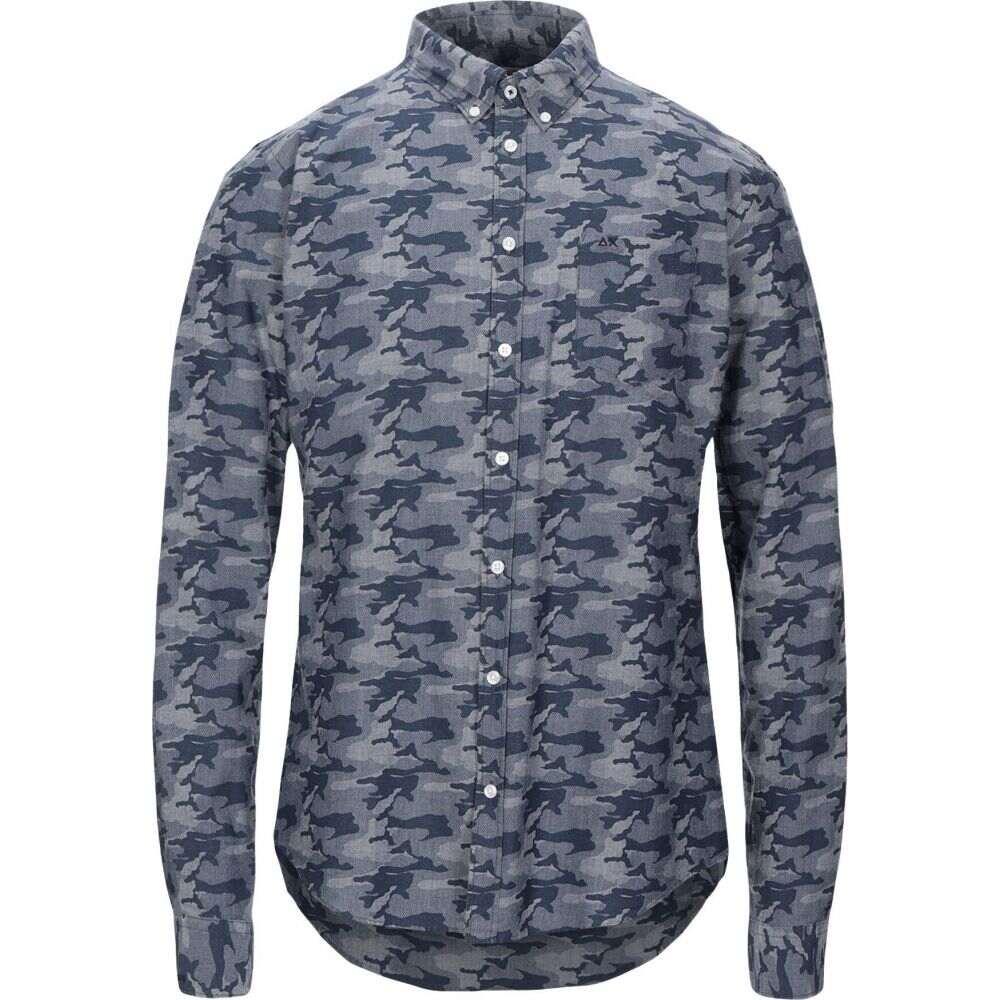 サン シックスティーエイト SUN 68 メンズ シャツ トップス【patterned shirt】Blue