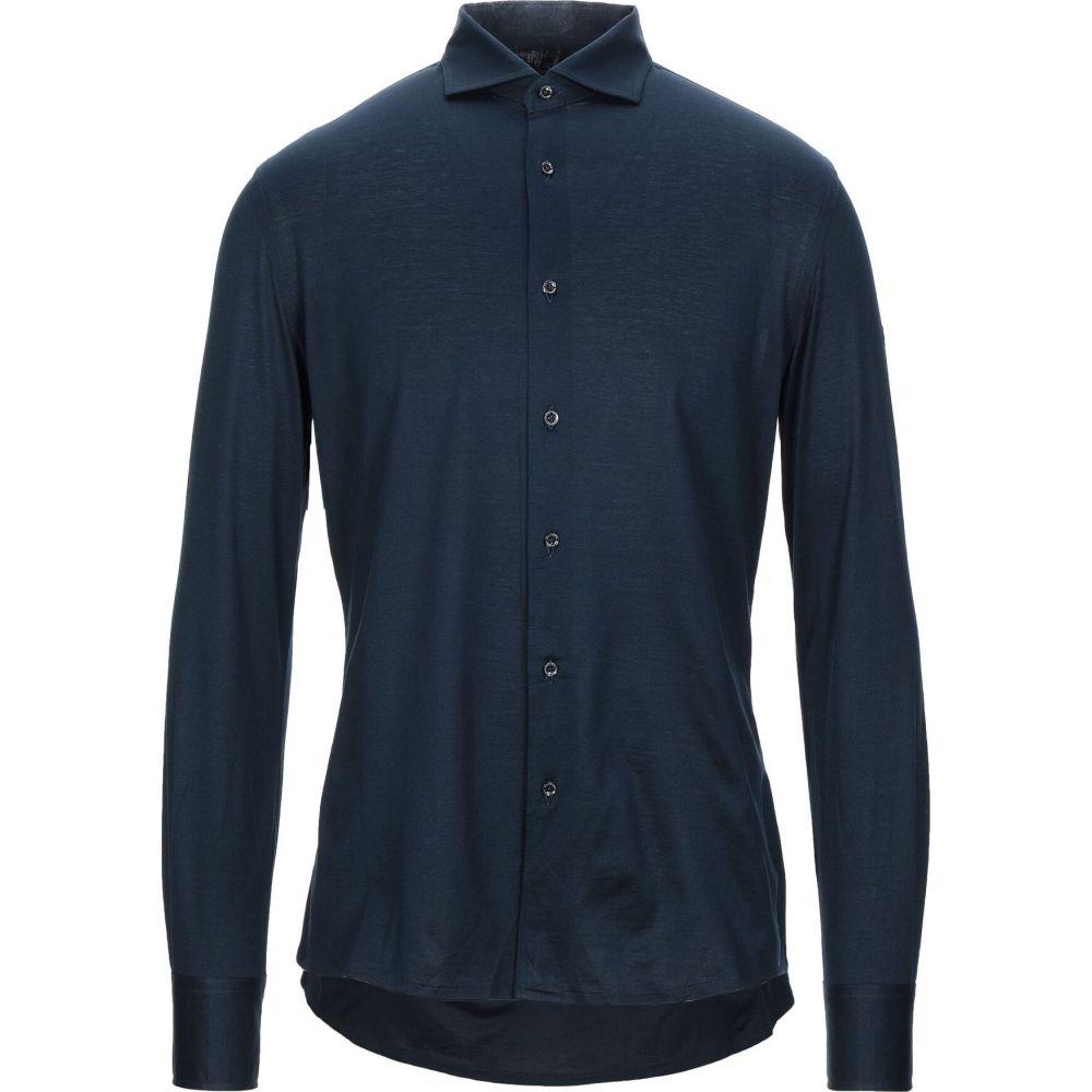 アレッサンドロ デラクア ALESSANDRO DELL'ACQUA メンズ シャツ トップス【solid color shirt】Dark blue