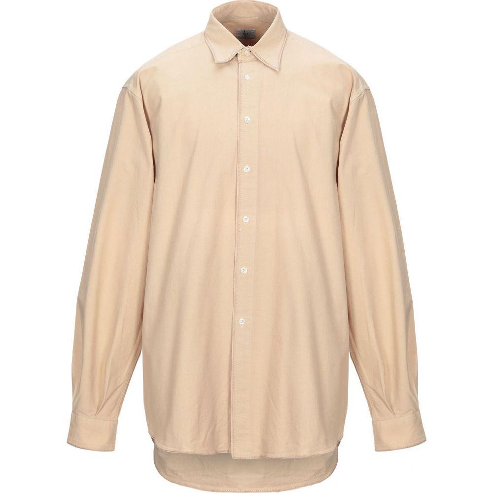 エイジ AGE メンズ シャツ トップス【solid color shirt】Beige