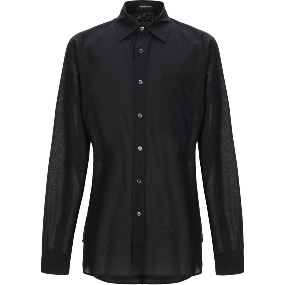 アンドゥムルメステール ANN DEMEULEMEESTER メンズ シャツ トップス【solid color shirt】Black