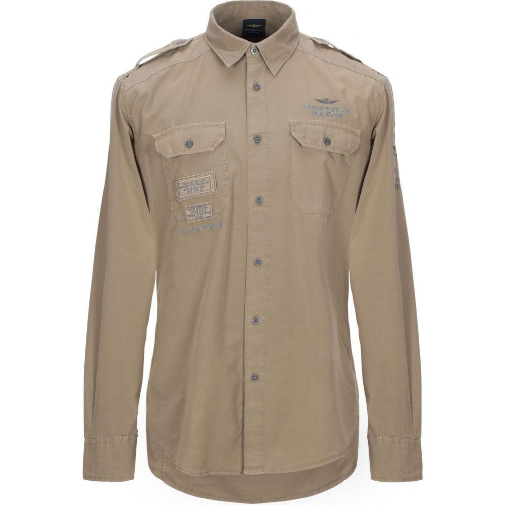 アエロナウティカ ミリターレ AERONAUTICA MILITARE メンズ シャツ トップス【solid color shirt】Beige
