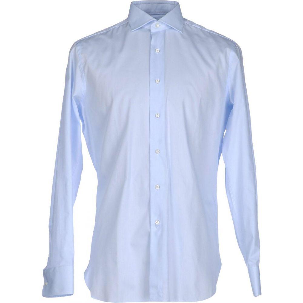 アレッサンドロ ゲラルディ ALESSANDRO GHERARDI メンズ シャツ トップス【solid color shirt】Sky blue