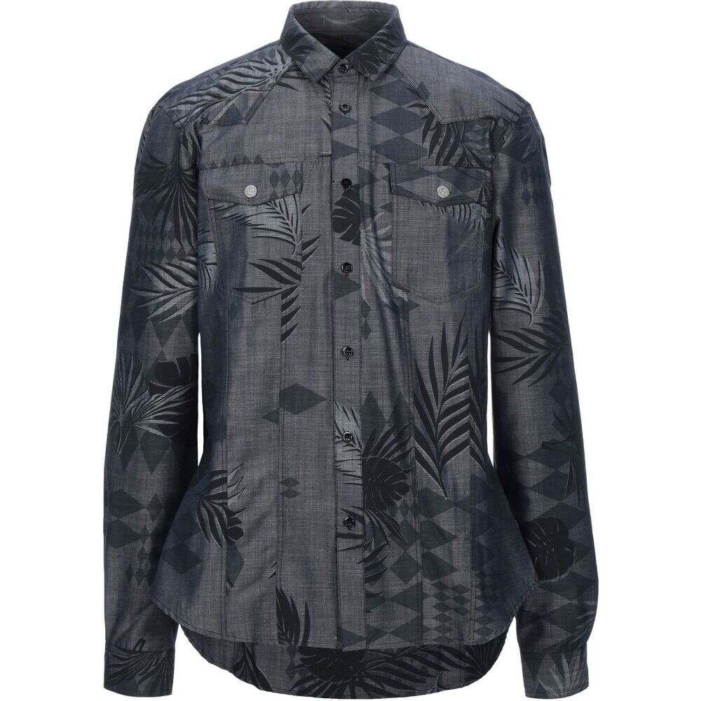 ヴェルサーチ VERSACE JEANS メンズ シャツ トップス【patterned shirt】Steel grey