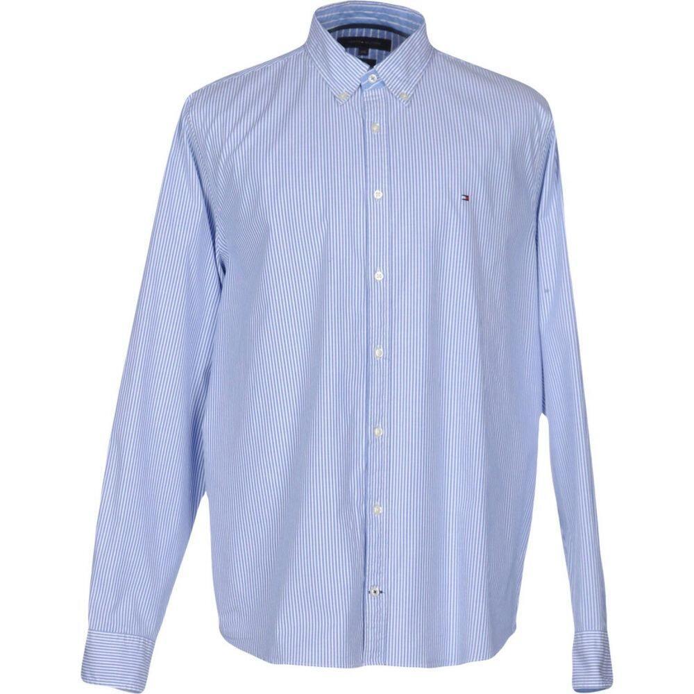トミー ヒルフィガー TOMMY HILFIGER メンズ シャツ トップス【striped shirt】Sky blue