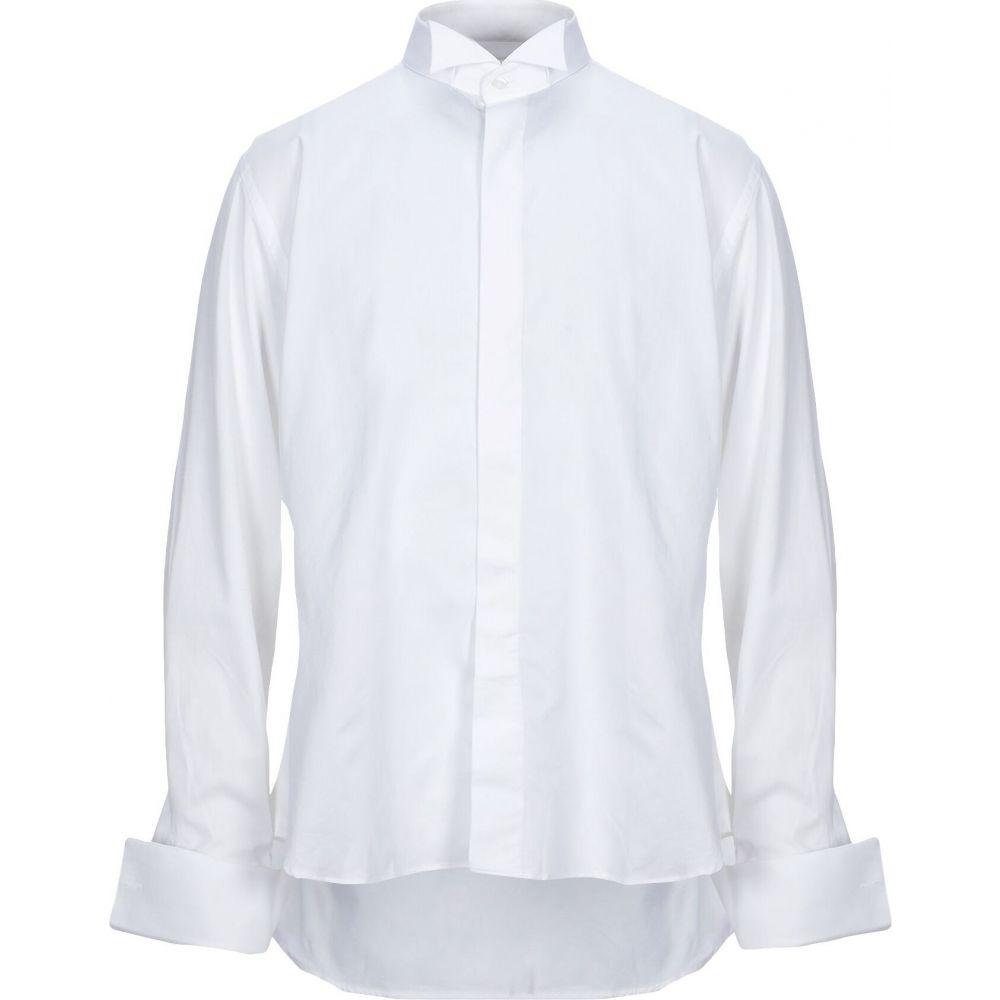 アンジェロ ナルデッリ ANGELO NARDELLI メンズ シャツ トップス【solid color shirt】White