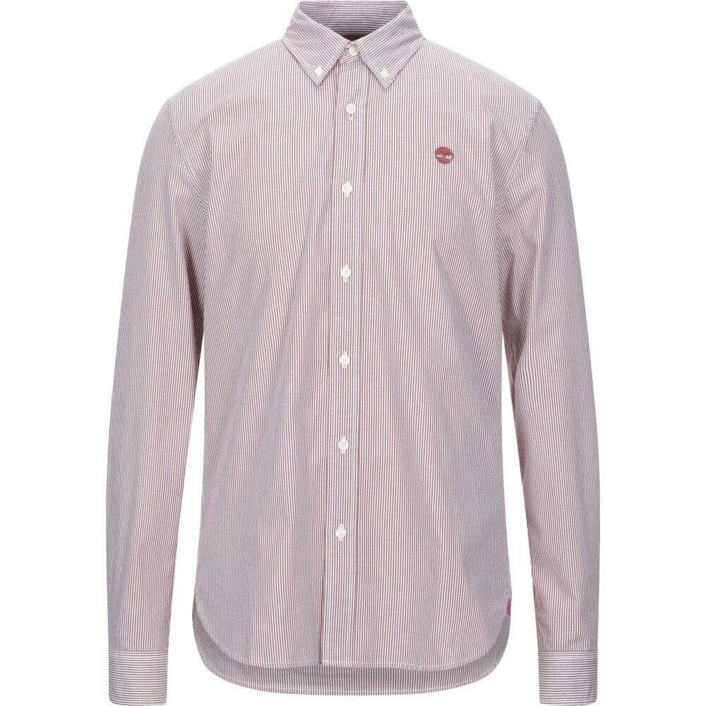 ティンバーランド TIMBERLAND メンズ シャツ トップス【striped shirt】Brick red
