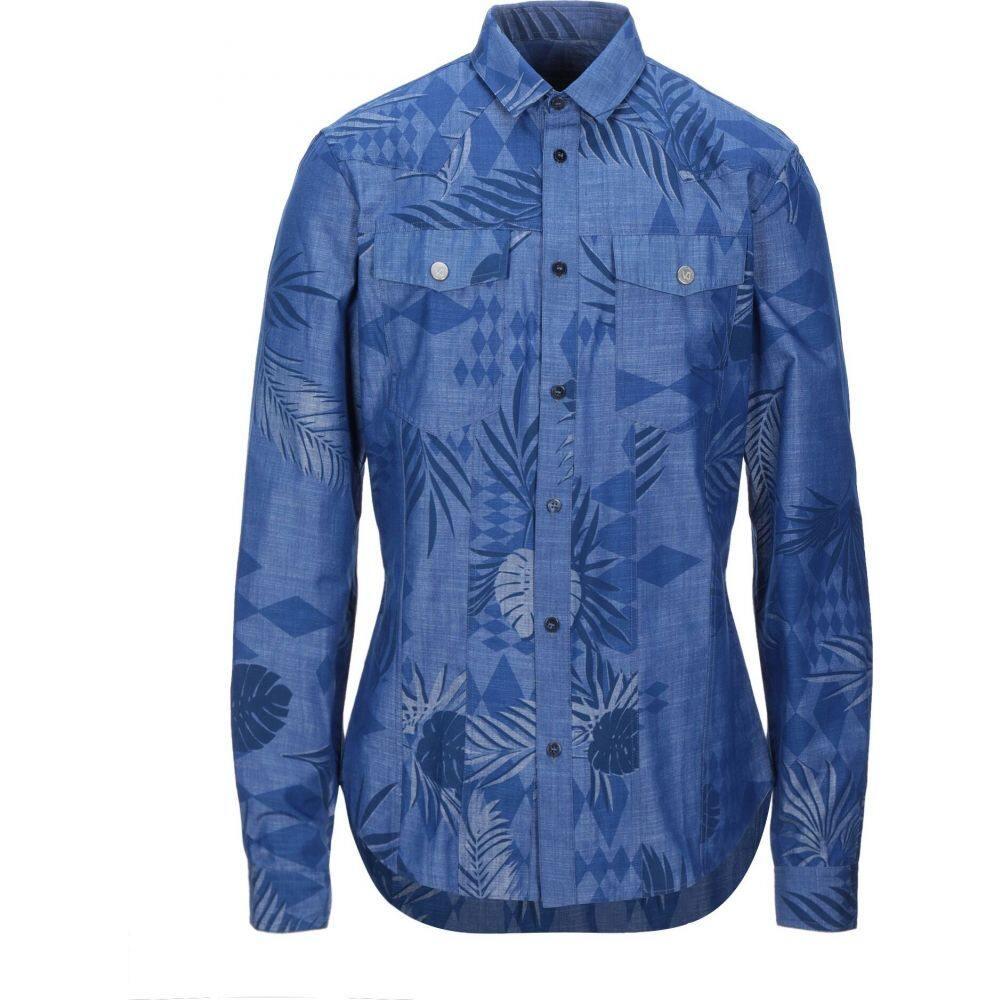 ヴェルサーチ VERSACE JEANS メンズ シャツ トップス【patterned shirt】Blue