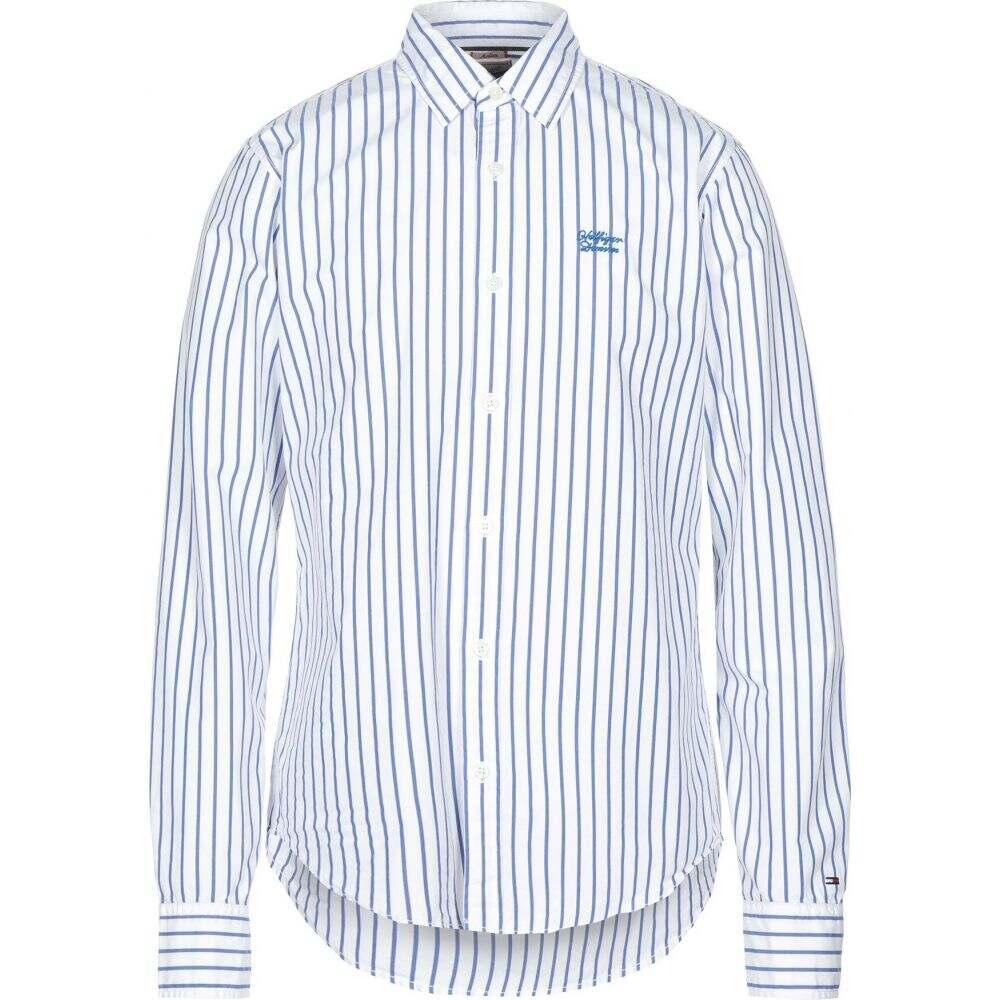 トミー ジーンズ TOMMY JEANS メンズ シャツ トップス【striped shirt】White