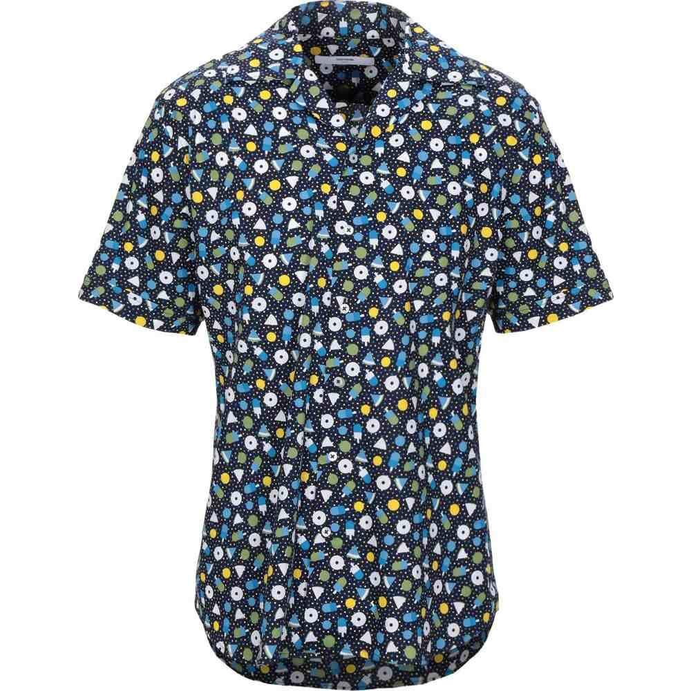タケシ クロサワ TAKESHY KUROSAWA メンズ シャツ トップス【patterned shirt】Dark blue