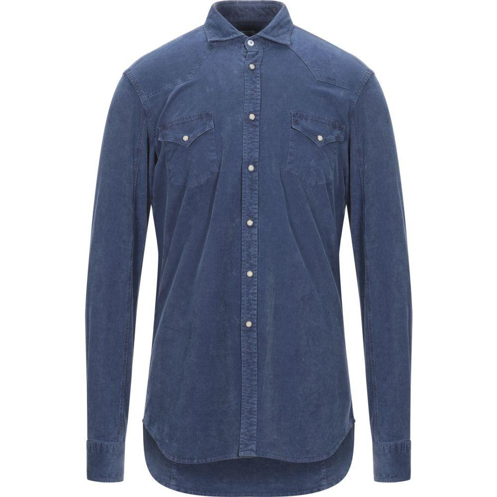 アレッサンドロ ゲラルディ ALESSANDRO GHERARDI メンズ シャツ トップス【solid color shirt】Blue