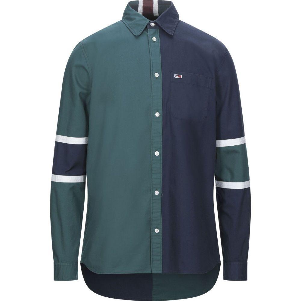 トミー ジーンズ TOMMY JEANS メンズ シャツ トップス【patterned shirt】Deep jade