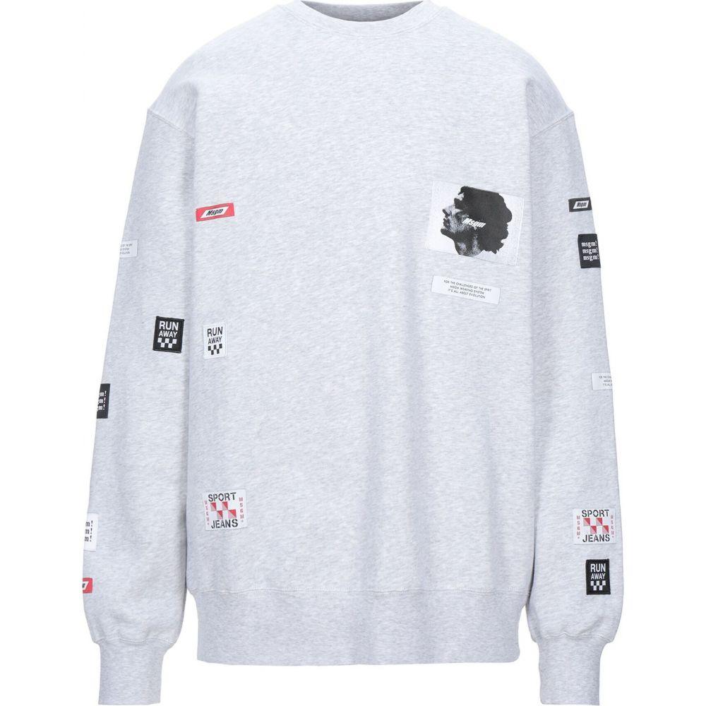 エムエスジーエム MSGM メンズ スウェット・トレーナー トップス【sweatshirt】Light yellow